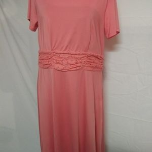 Blair Midi Dress Peach Large